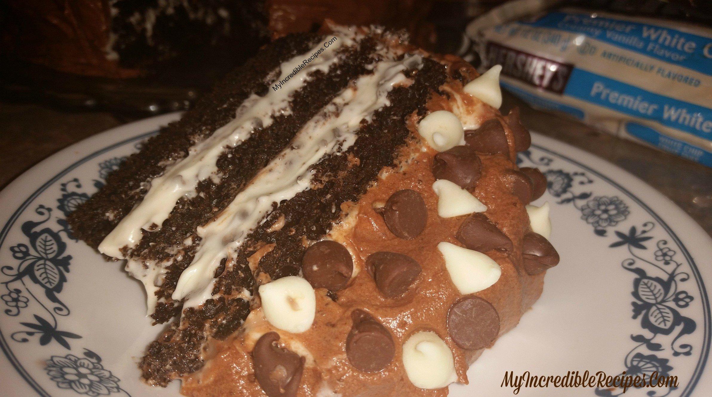 Hershey S Chocolate Cake With Cream Cheese Filling