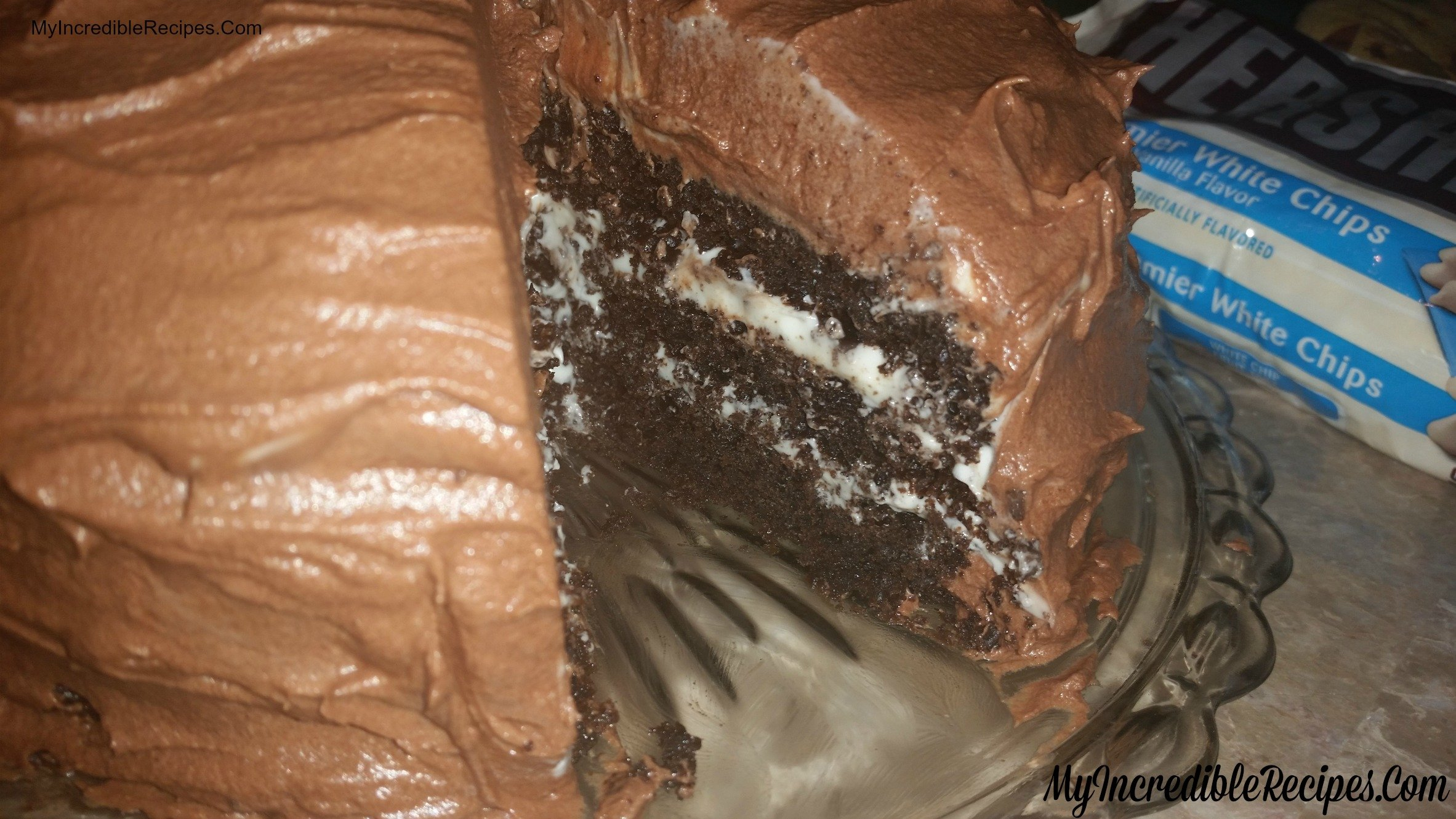 Hersheys Chocolate Cake with Cream Cheese Filling & Chocolate ...