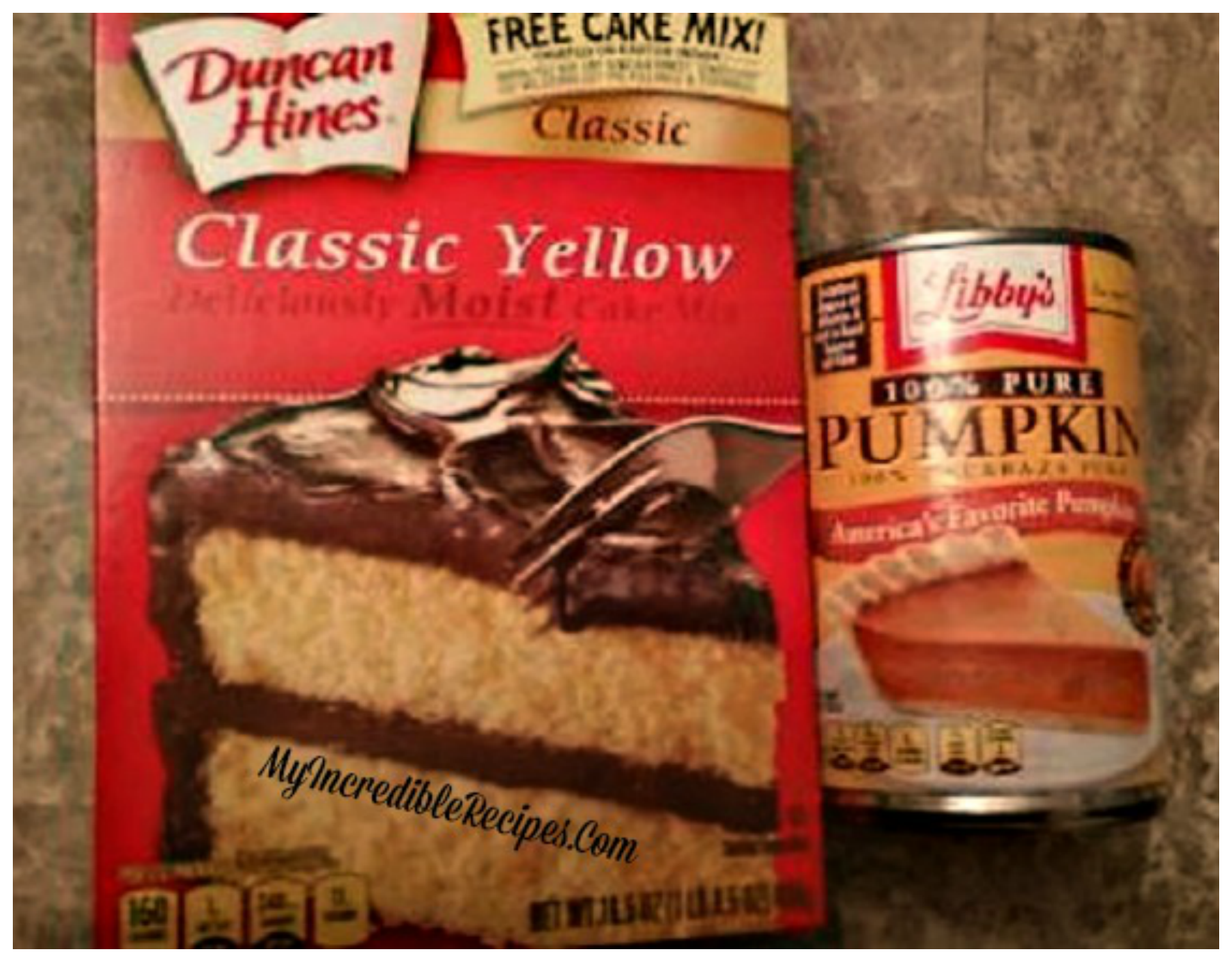 Old Duncan Hines Cake Mix Weight