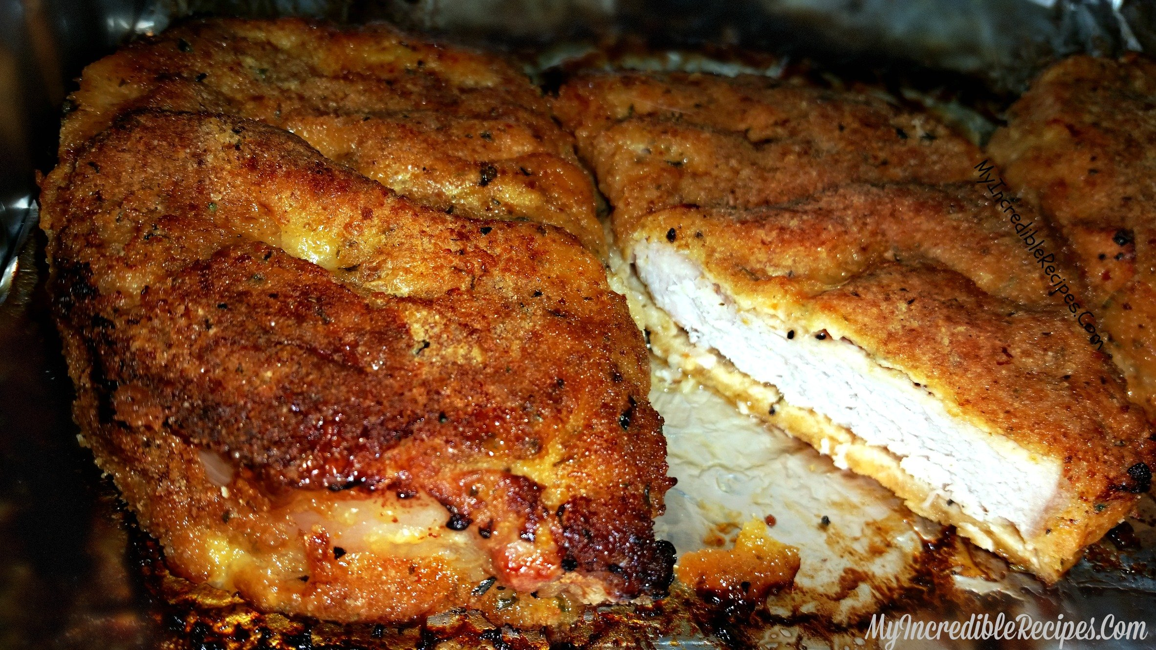 Delicious Baked Parmesan Crusted Pork Chops
