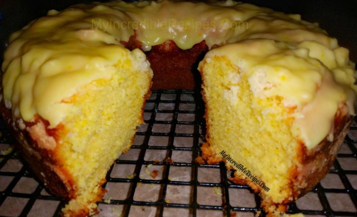 Vanilla Cake With Lemon Glaze