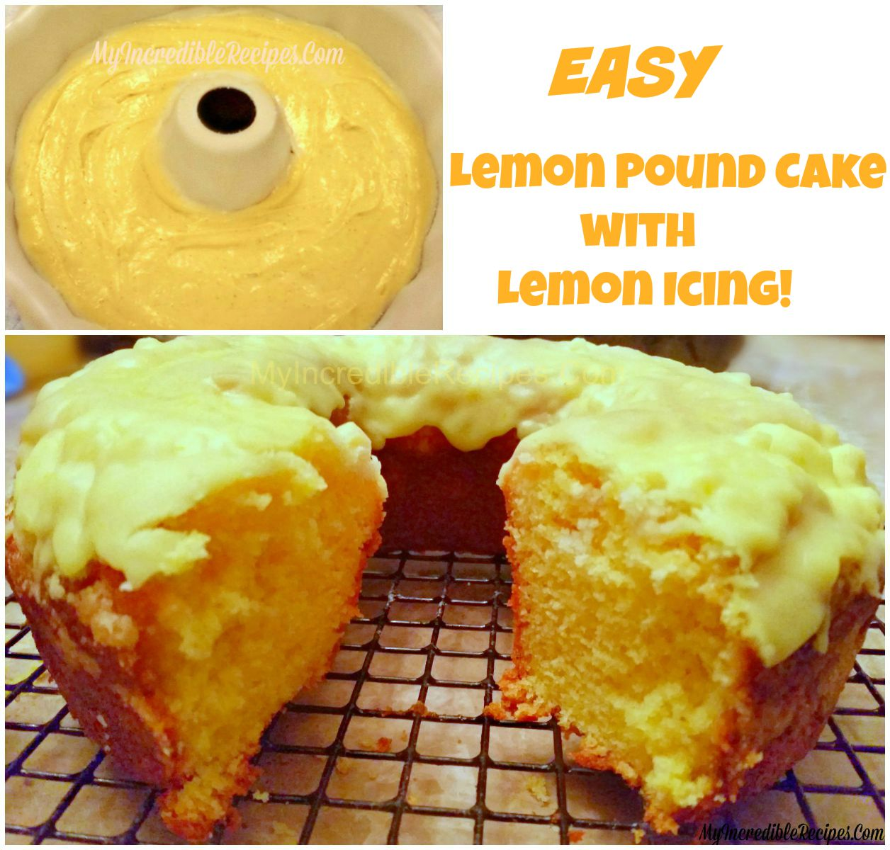Easy Lemon Pound Cake With Lemon Icing