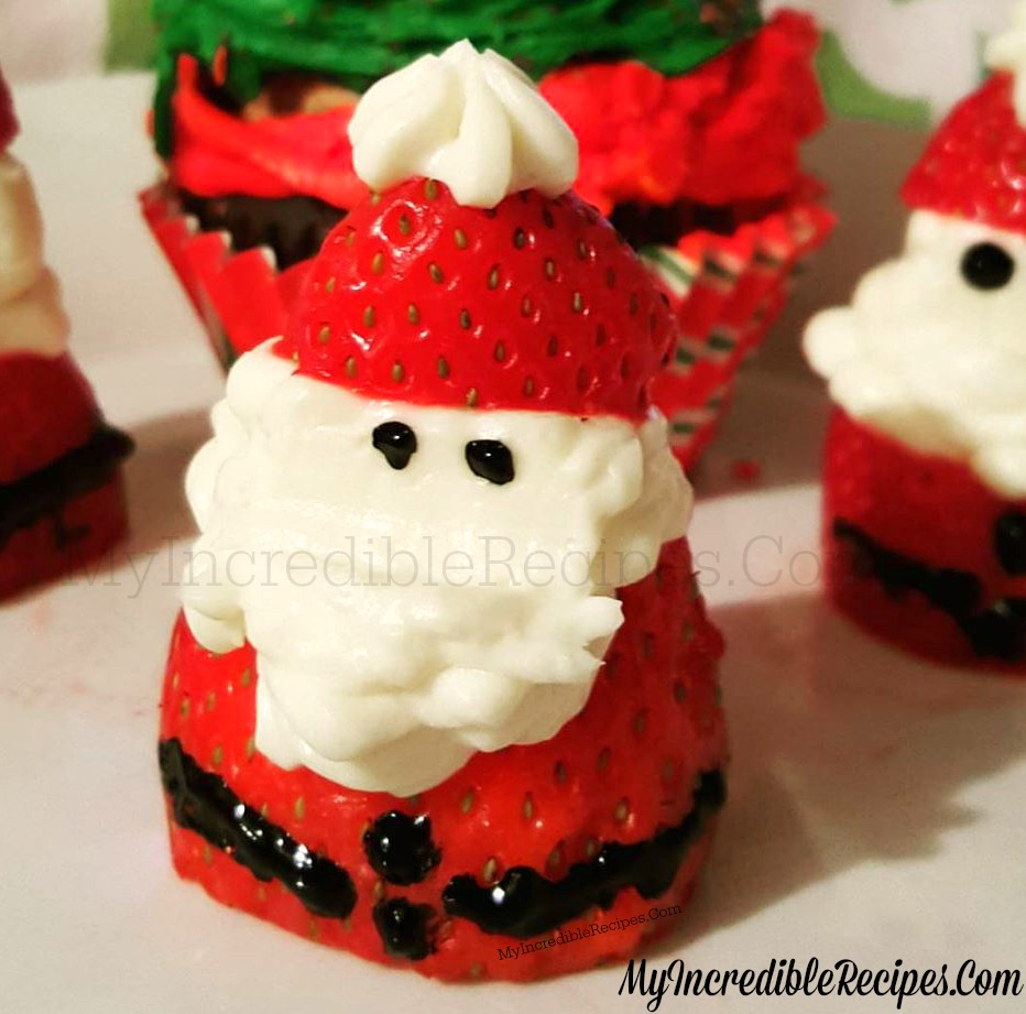 Strawberry Cheesecake Santas For Christmas