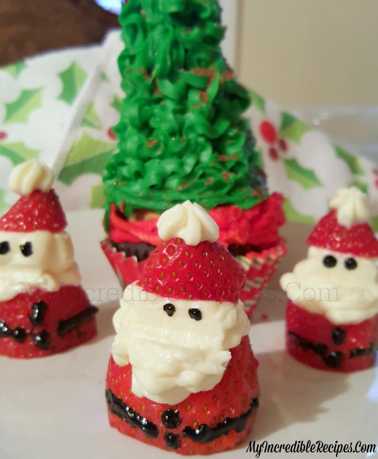 Christmas Cheesecake.Strawberry Cheesecake Santas For Christmas