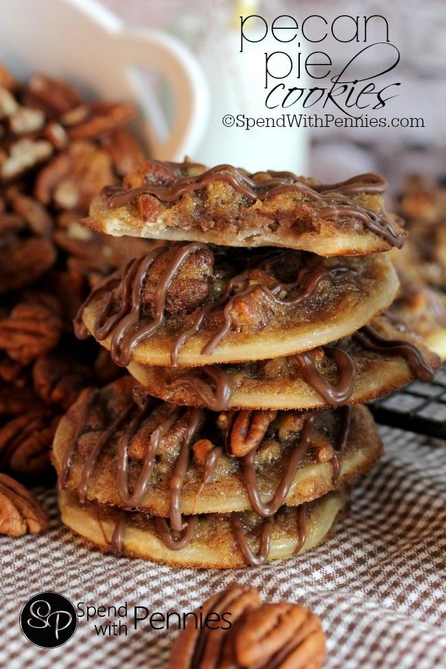pecan pie cookies - Homemade Christmas Cookies Recipe