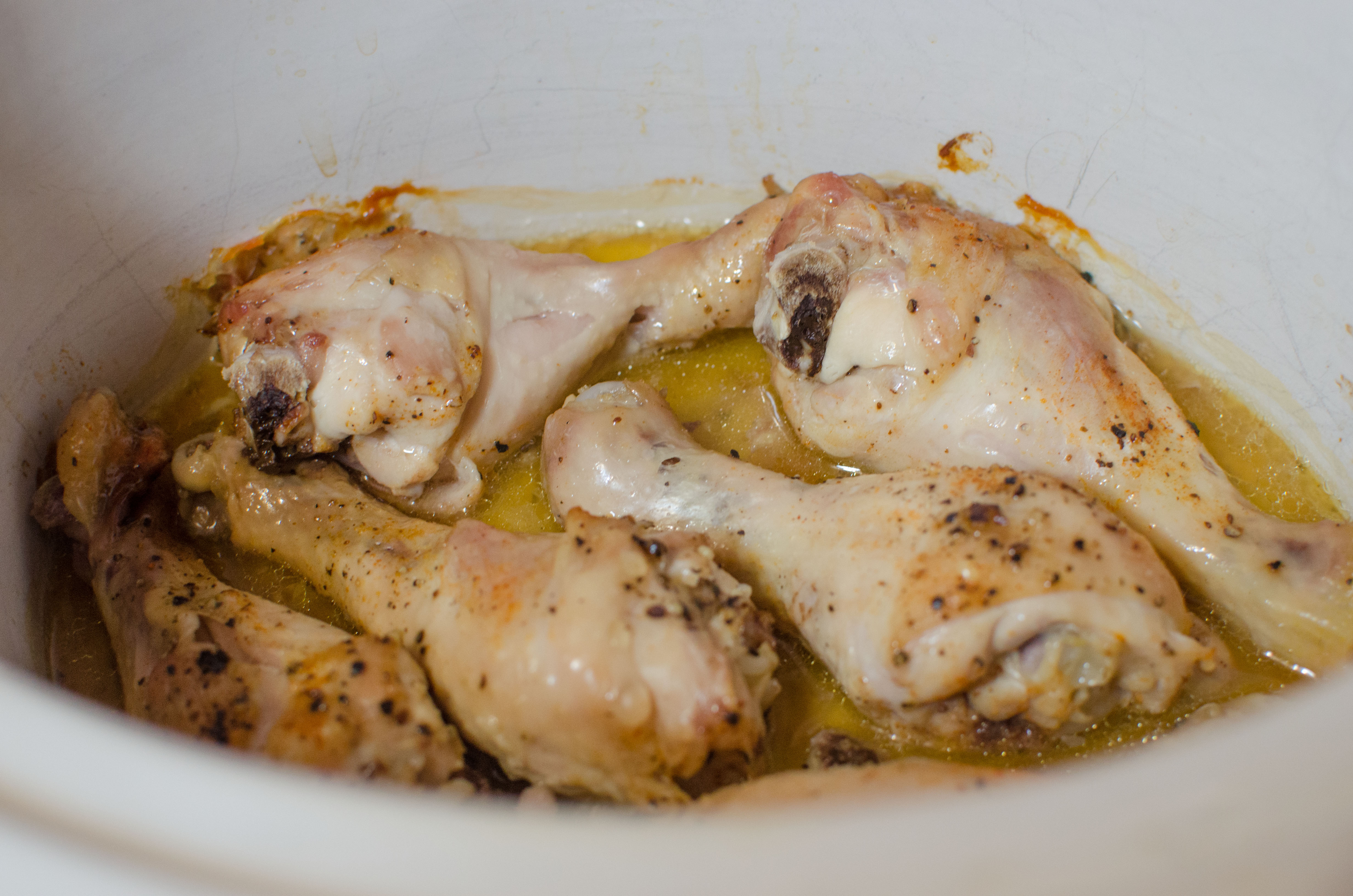 Slow Cooker Spicy and Sticky Chicken Legs 3