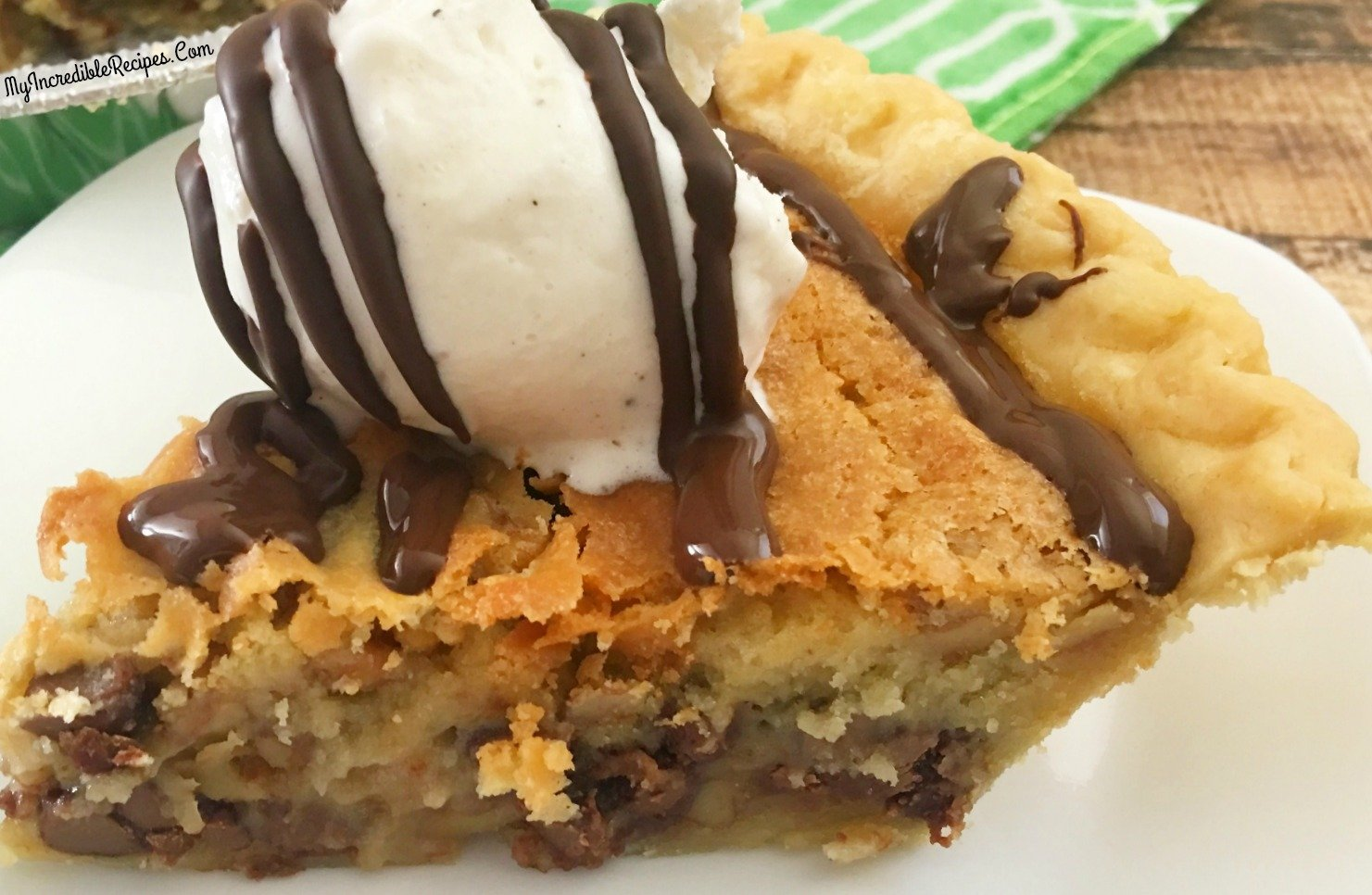 Vintage Toll House Chocolate Chip Pie!