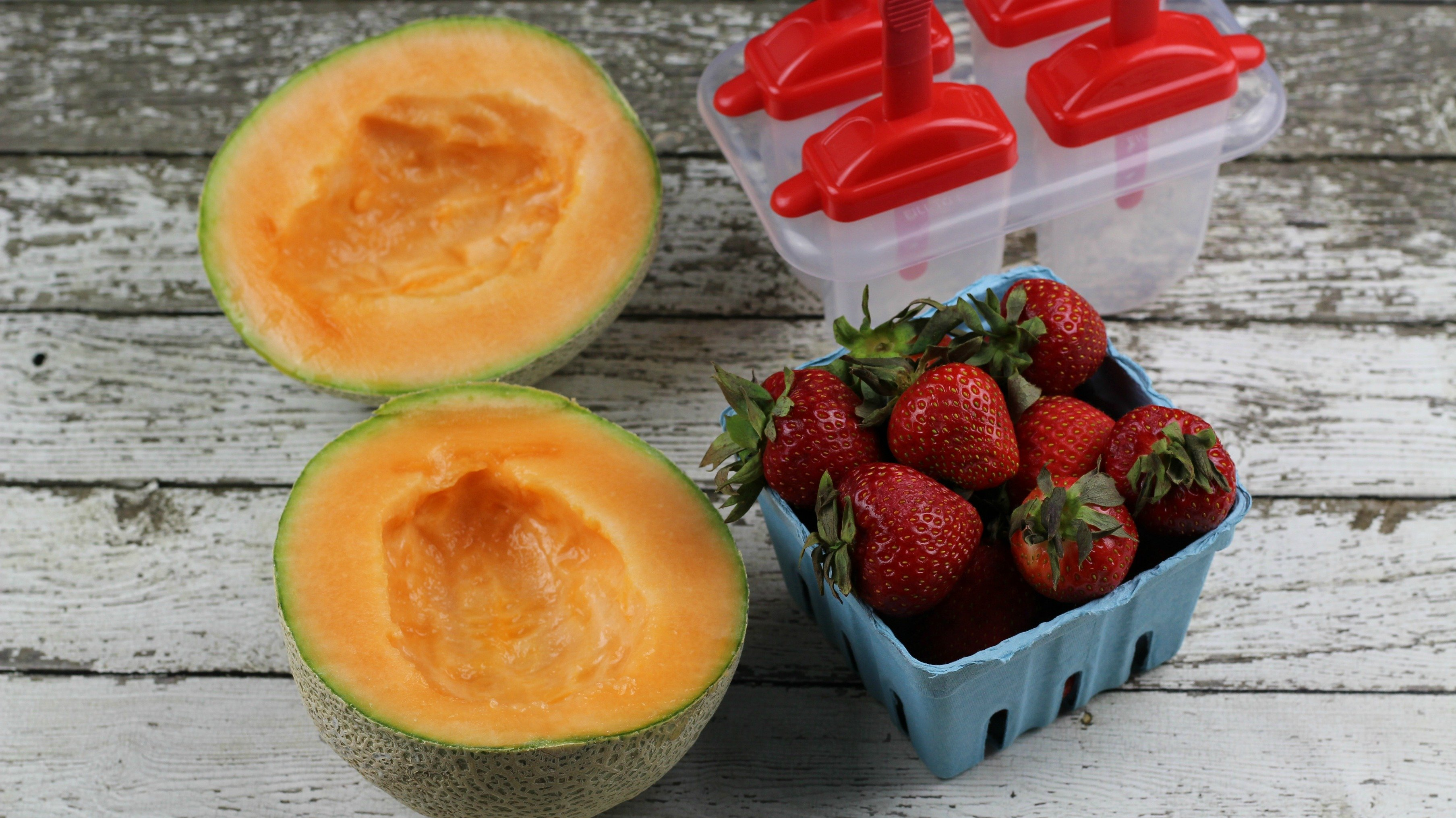Strawberry Cantaloupe Popsicles Ingredients