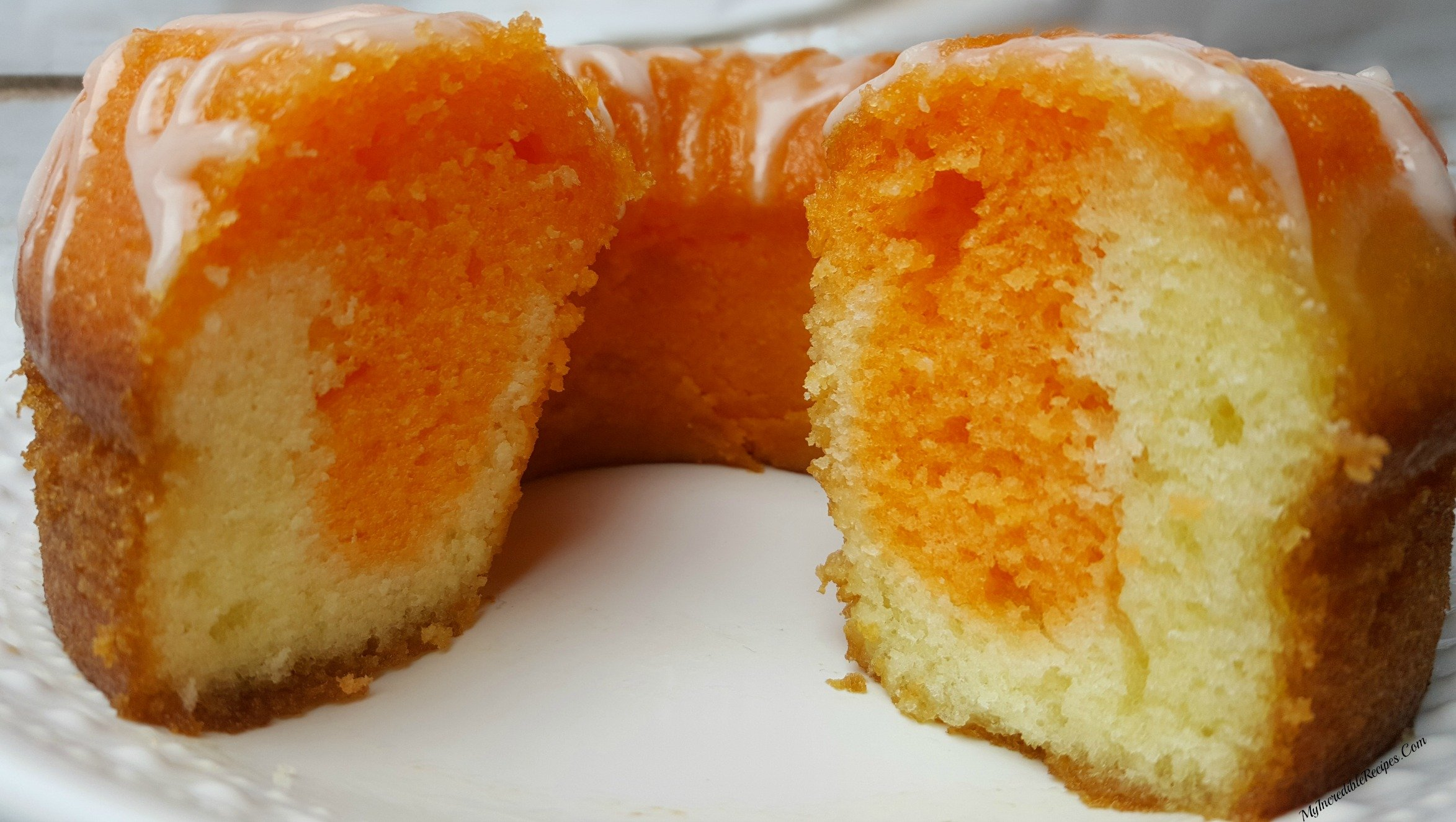 Creamsicle Cake With Orange Soda