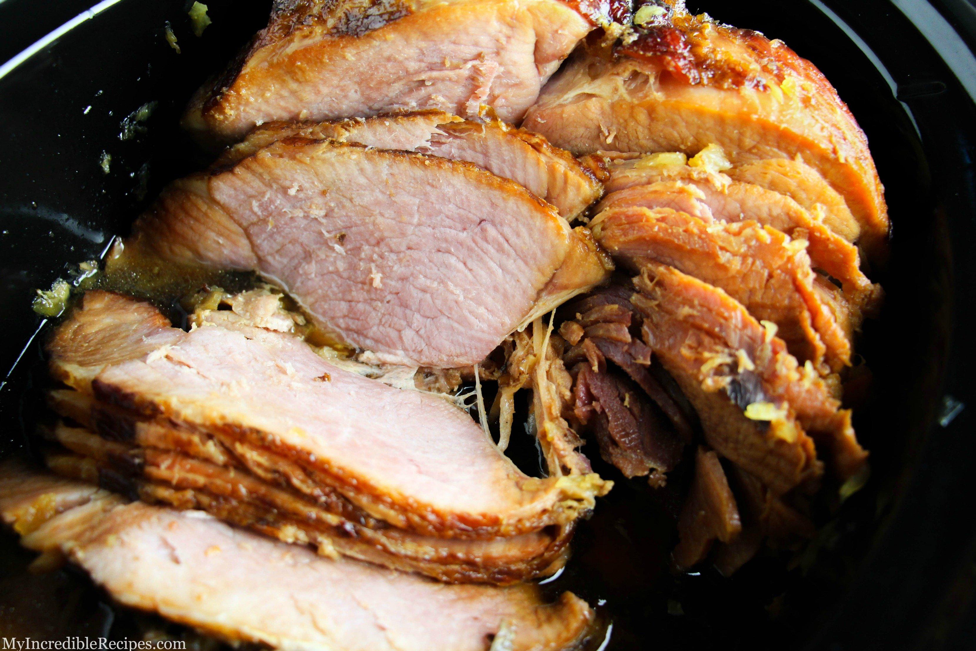 Crock Pot Brown Sugar Pineapple Ham