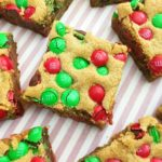Thick & Chewy M & M Cookie Bars!