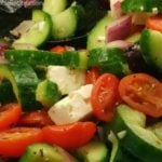 Greek Cucumber Salad!