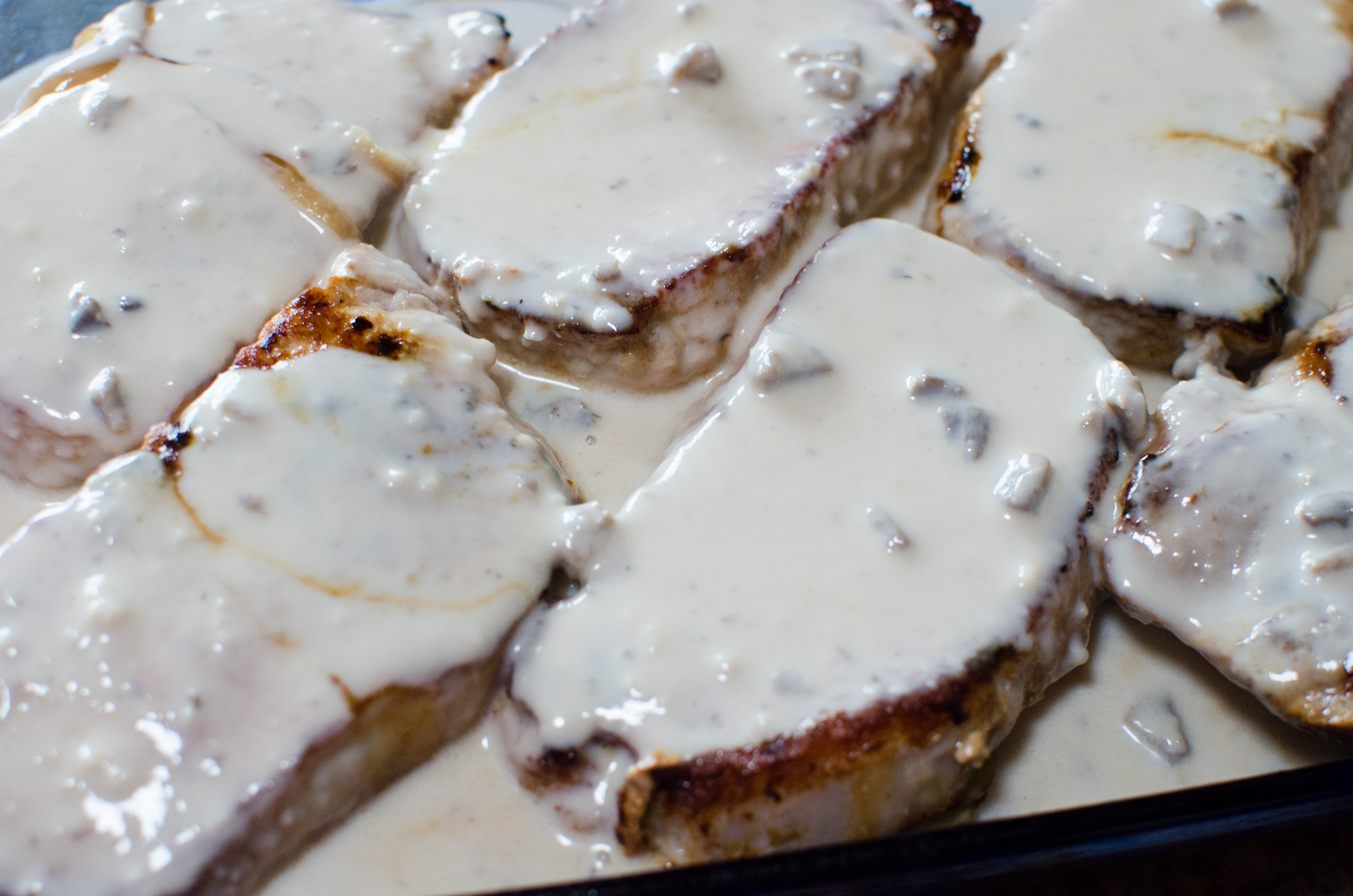 Smothered Pork Chop Scalloped Potato Casserole