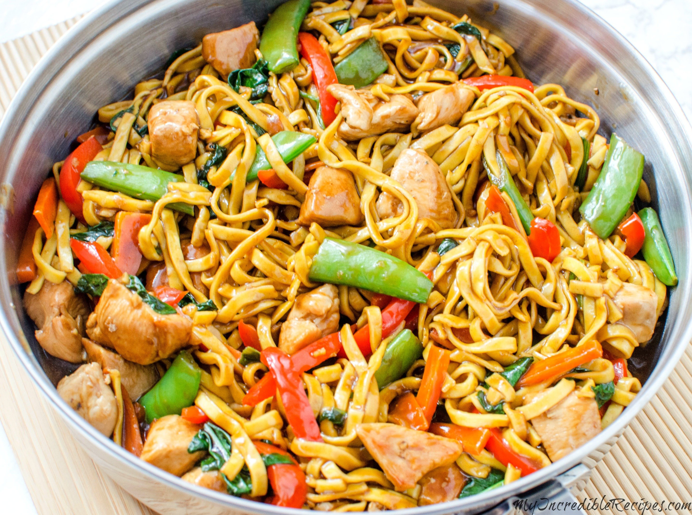 Chicken Lo Mein Homemade Takeout Style