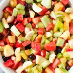 Strawberry Kiwi Melon Fruit Salad!