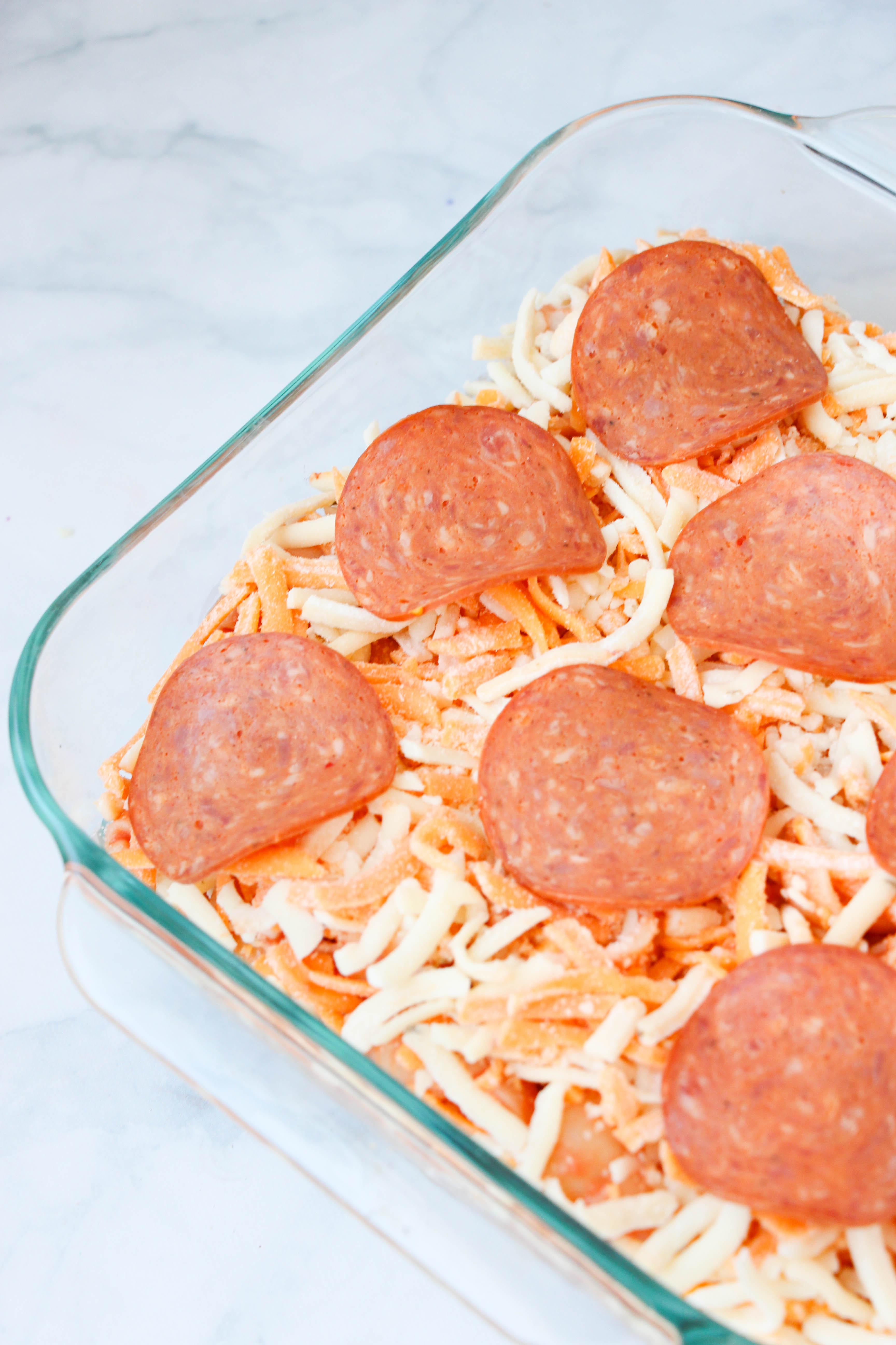 Pepperoni Pizza Pasta Bake