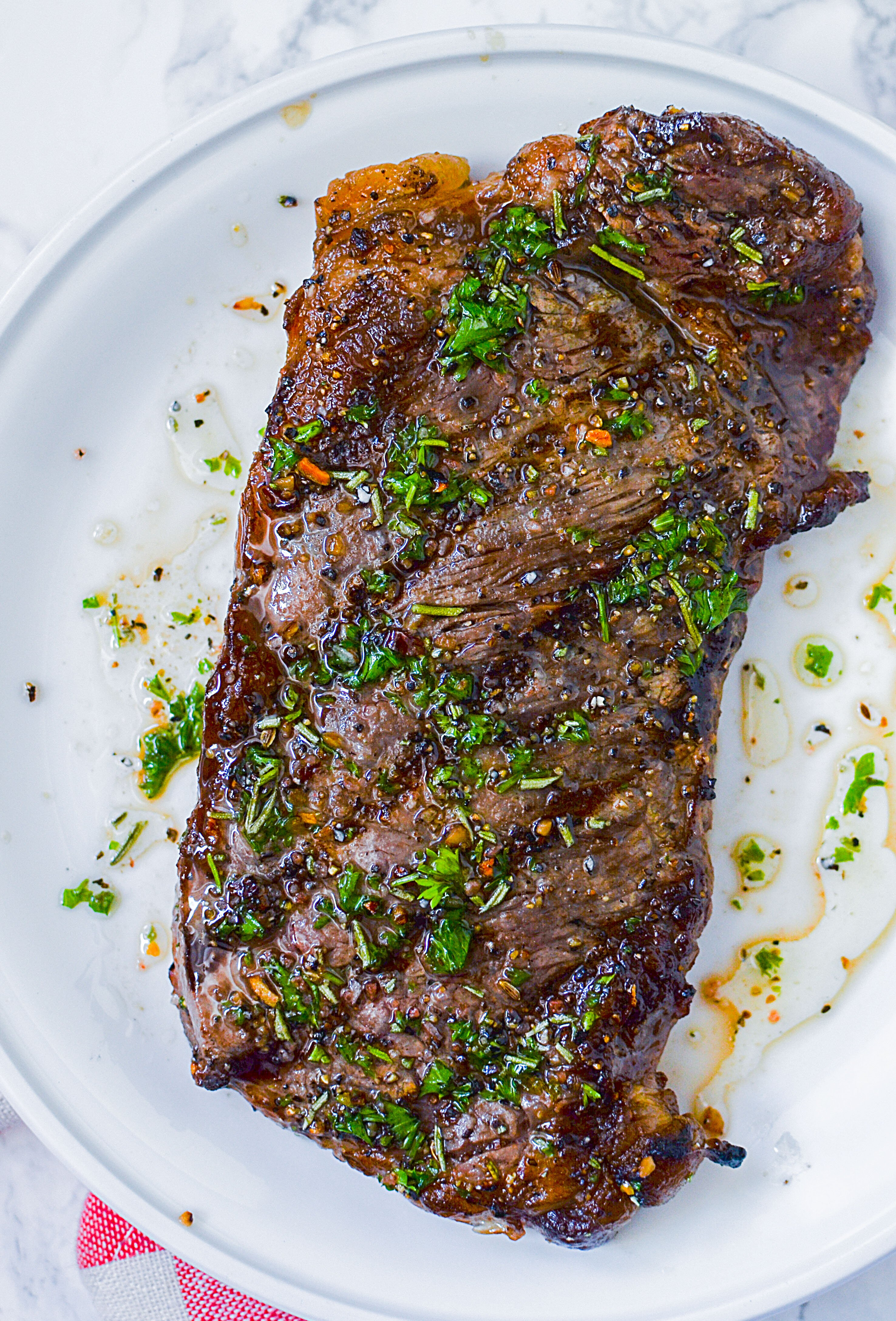 Tell me how to marinate steaks from red fish