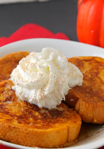 Pumpkin Pie French Toast w/ Homemade Pumpkin Syrup!