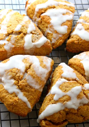 Pumpkin Pie Glazed Scones!