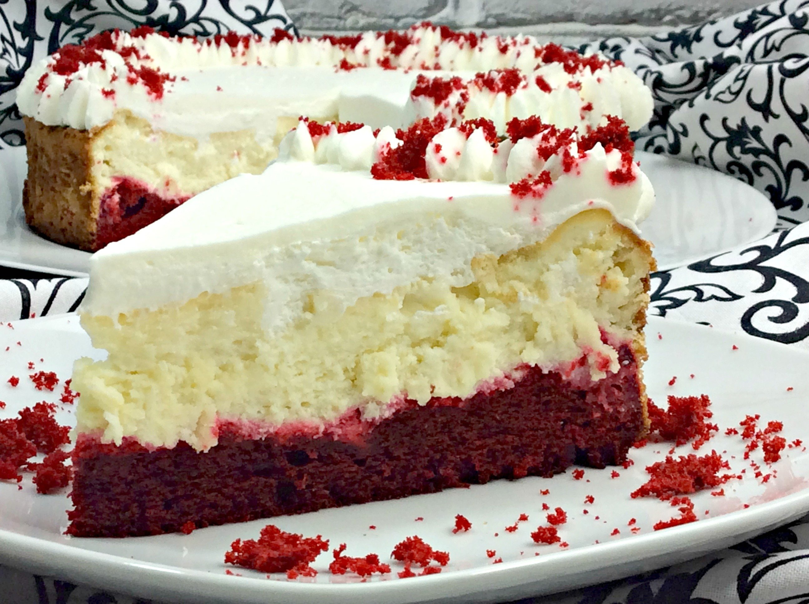 Red Velvet Cheesecake With Cake Mix