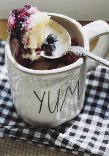 Easy 2 Minute Blueberry Muffin Mug Cake!