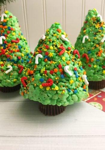 Christmas Tree Rice Krispies!