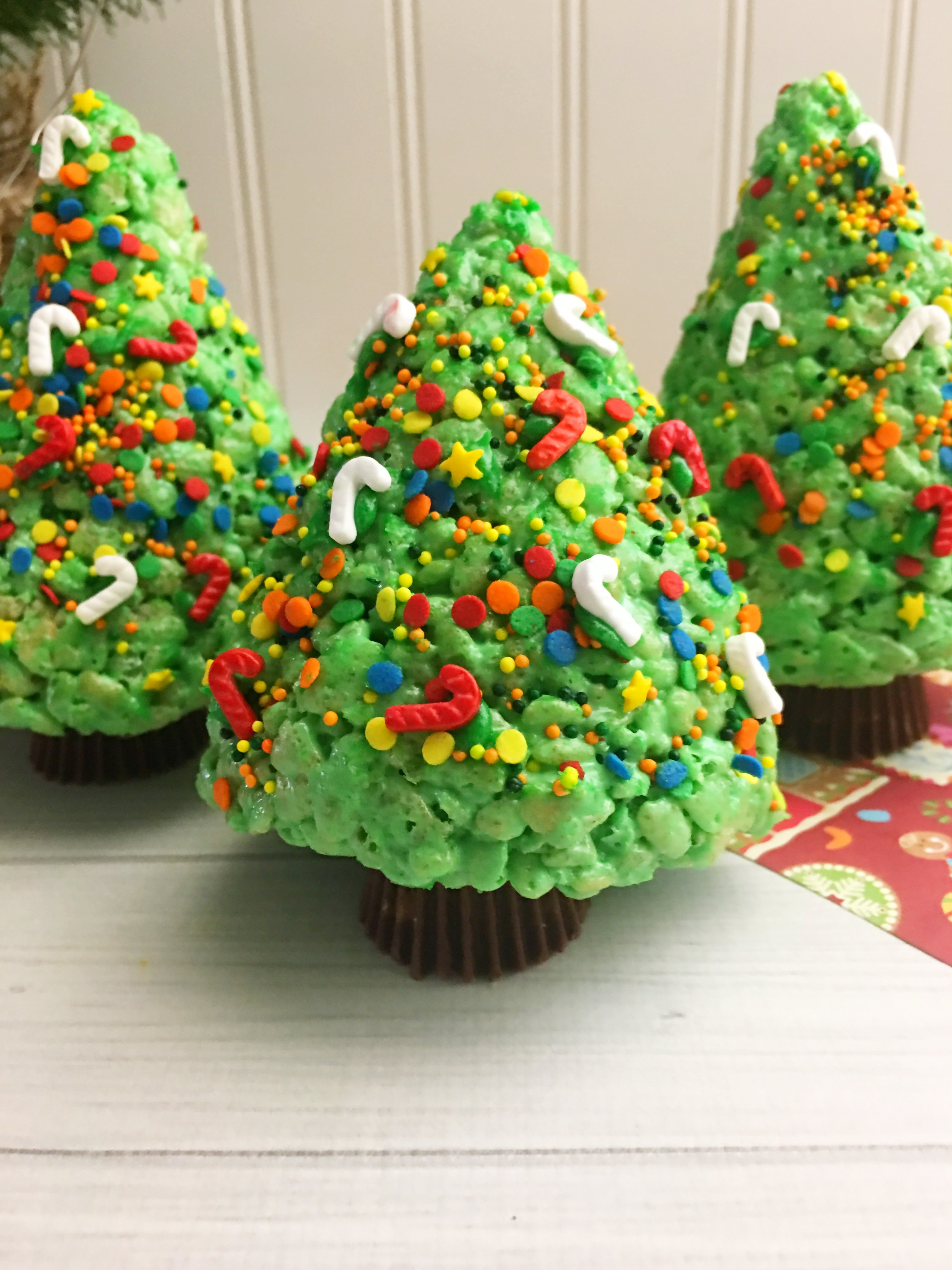 Christmas Tree Rice Krispies!