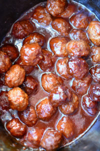 3 Ingredient Sweet & Spicy Crock Pot Meatballs!