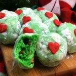 Grinch Snowball Cookies!