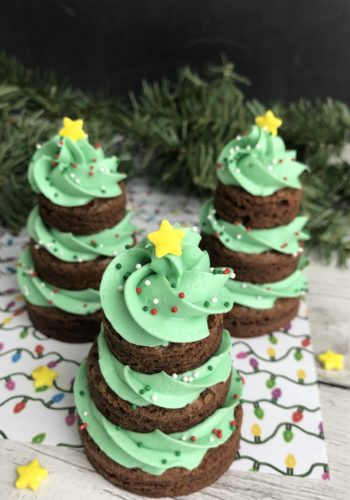 Brownie Christmas Trees!