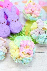 Springtime Marshmallow Popcorn Balls!