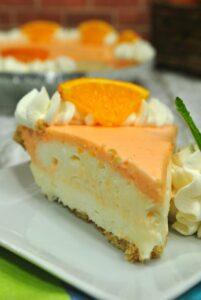 No Bake Orange Creamsicle Cheesecake!