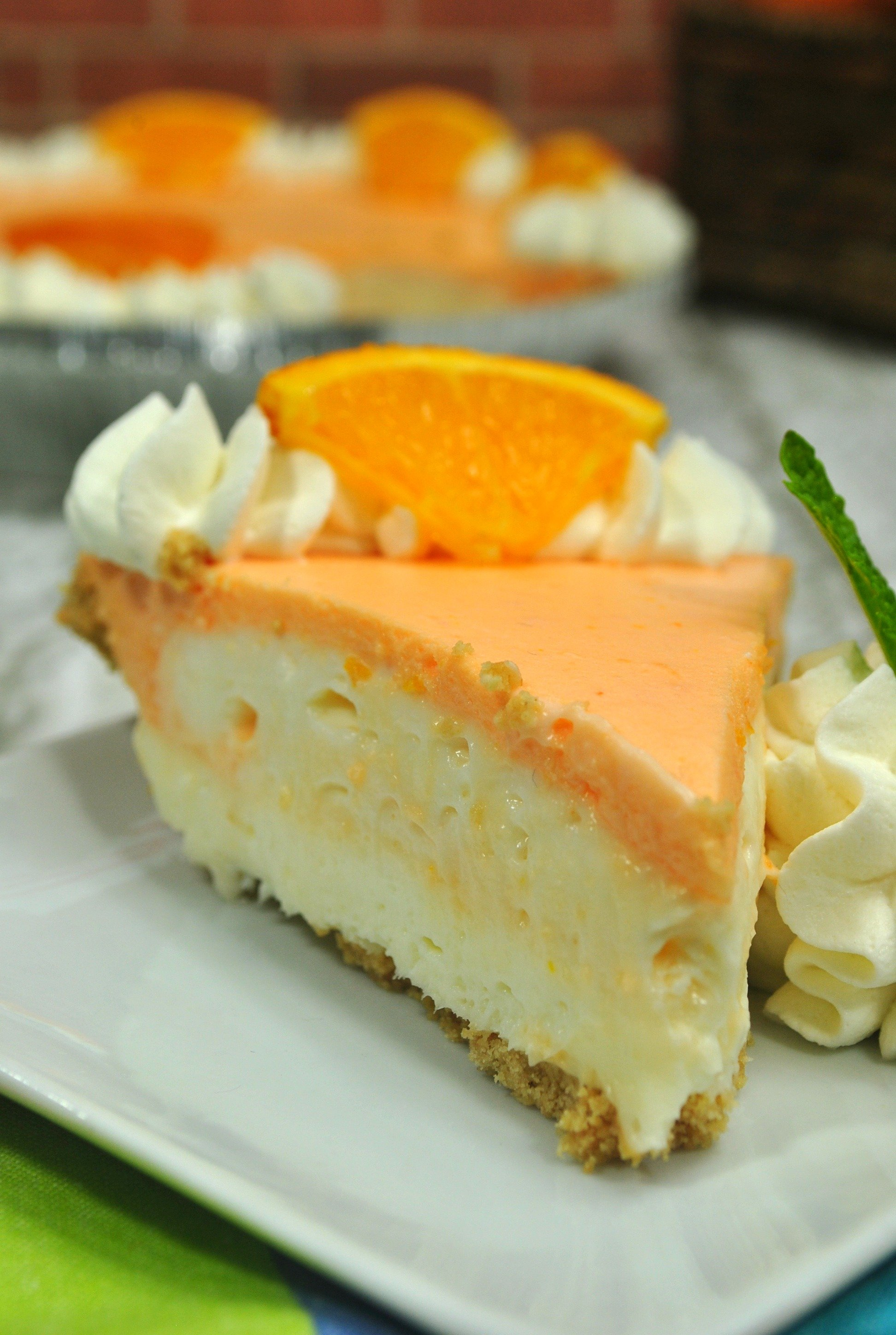 No Bake Orange Creamsicle Cheesecake!