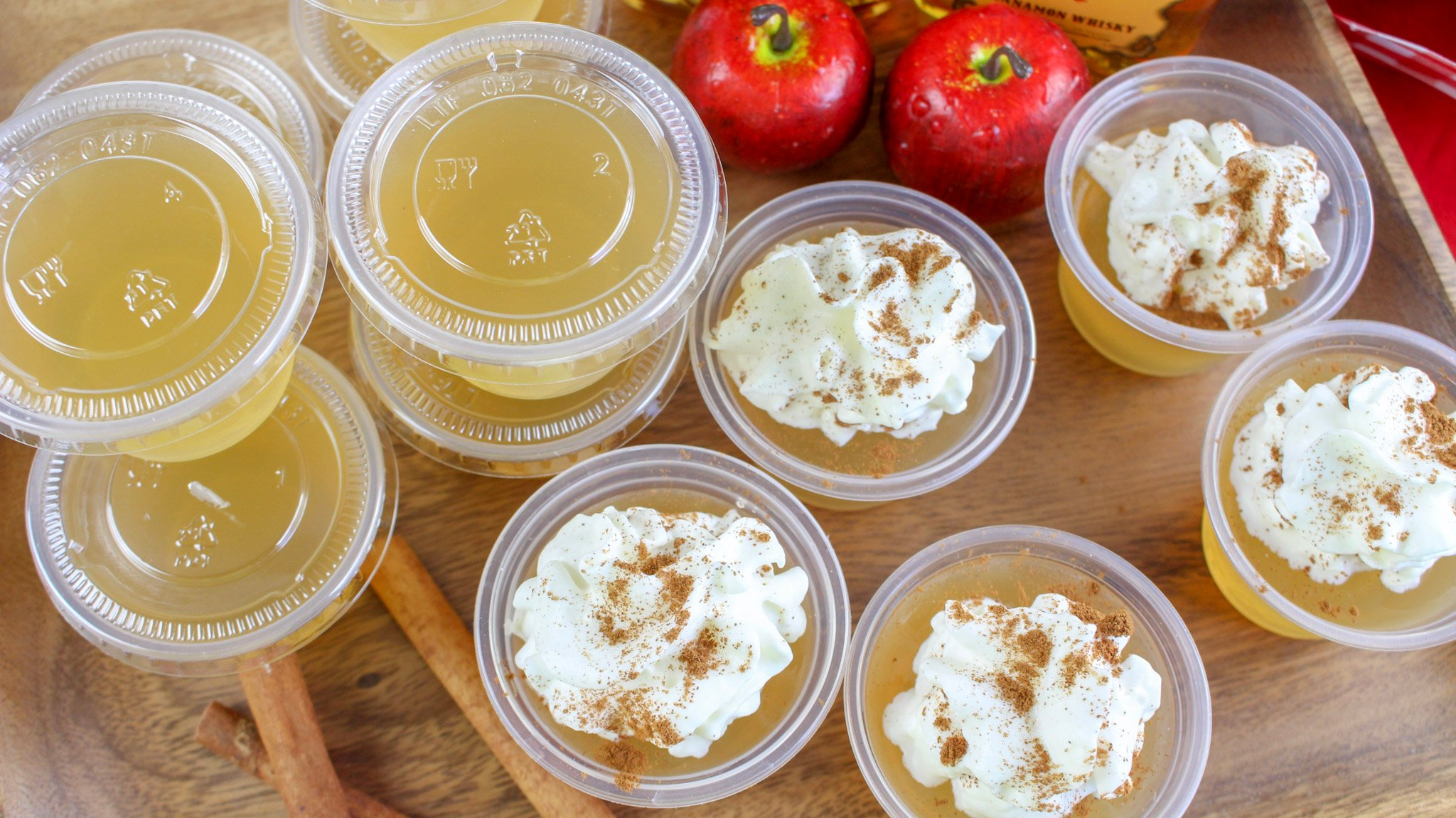 Apple Pie Jello Shots