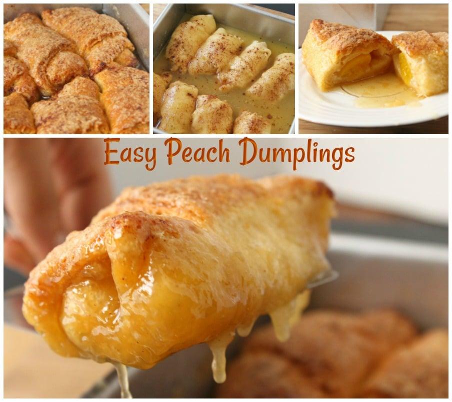 Easy Peach Dumplings!