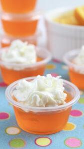 Orange Creamsicle Jello Shots!