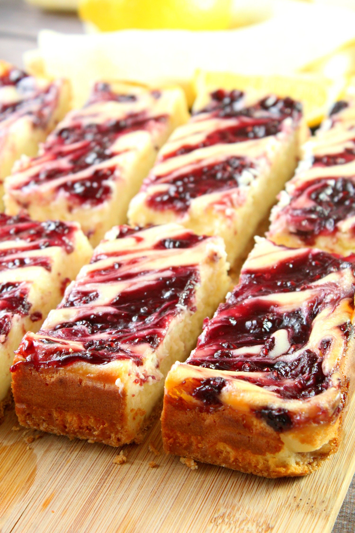 Lemon Raspberry Cheesecake Bars!