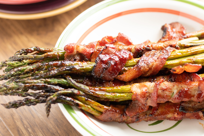 Brown Sugar Bacon Wrapped Asparagus!