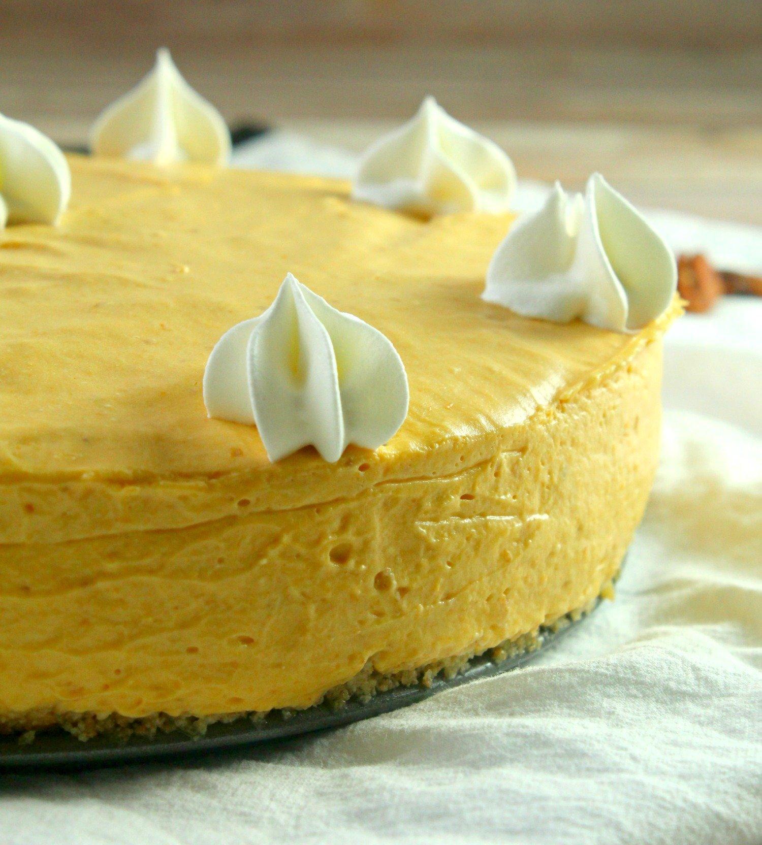No Bake Pumpkin Cheesecake!