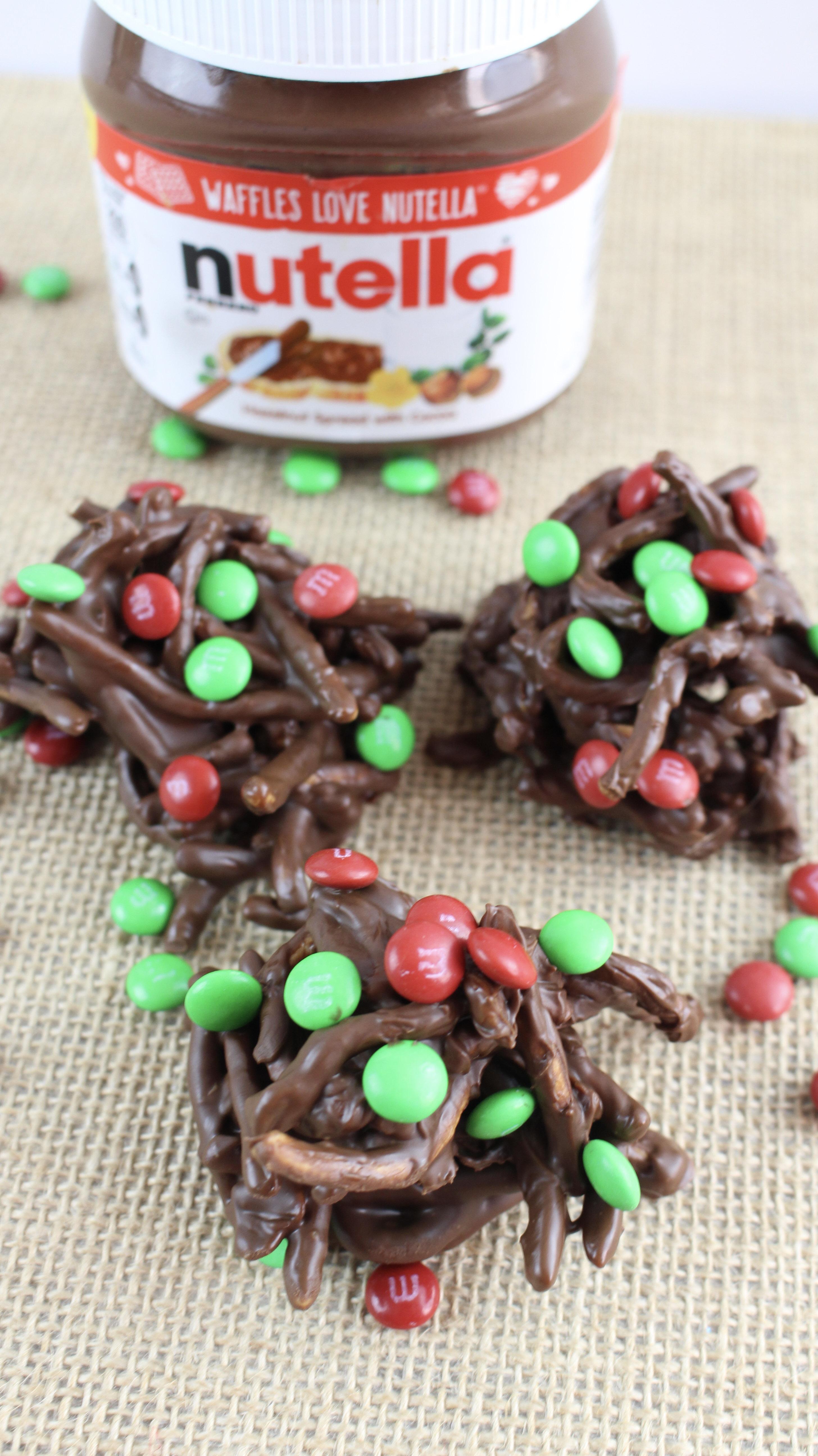 No Bake Holiday Chocolate Haystacks