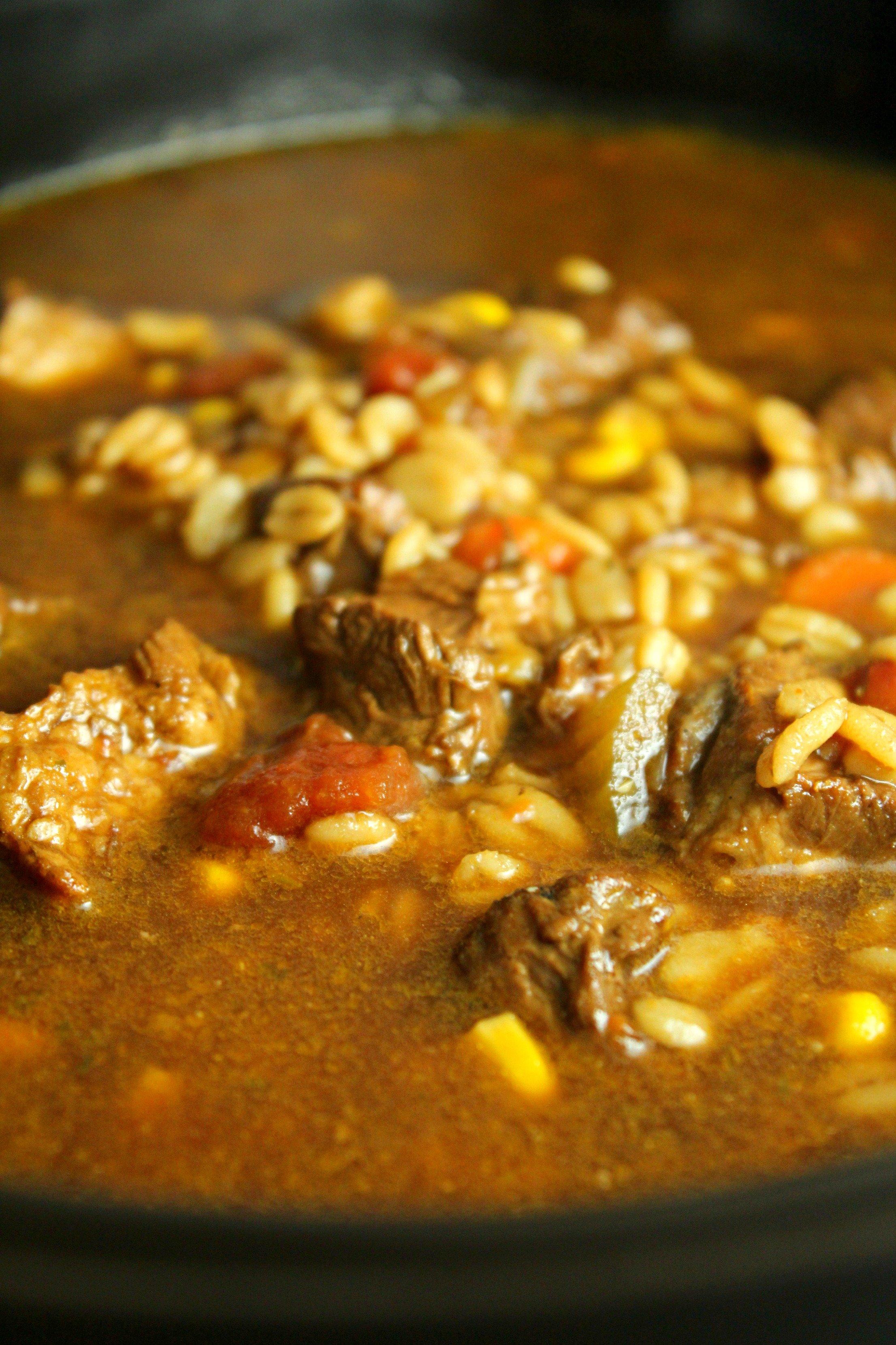 Homemade Slow Cooker Beef Amp Barley Soup