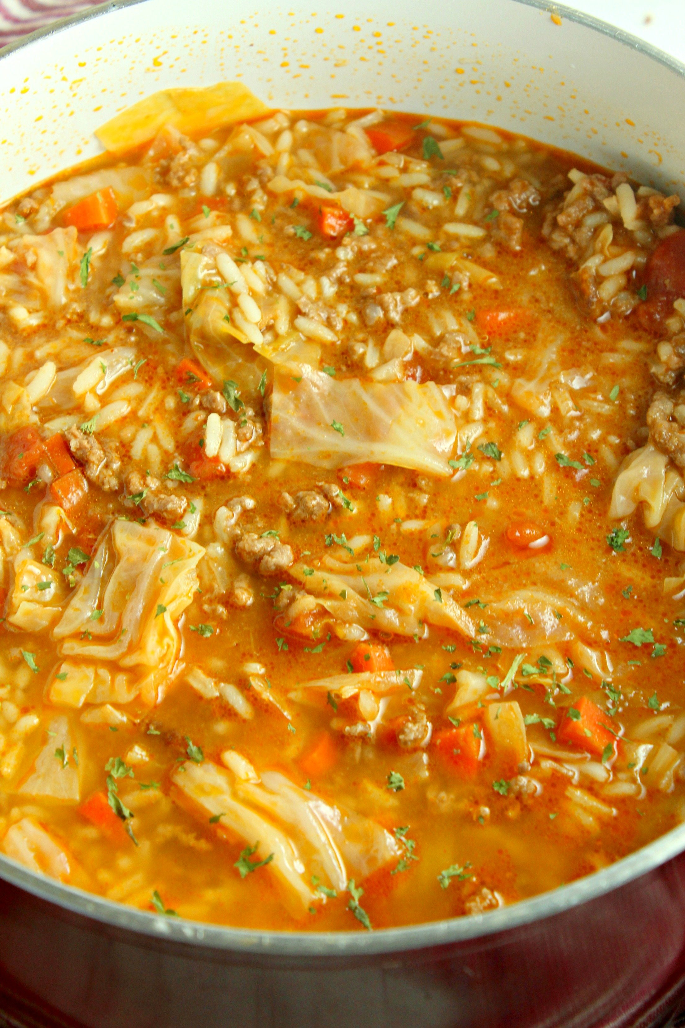 Best Ever Cabbage Roll Soup