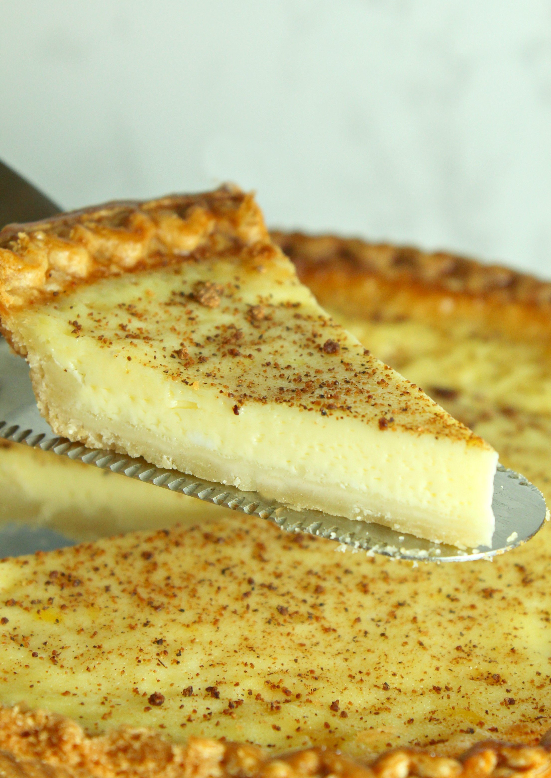 Old Fashioned Cream Custard Pie